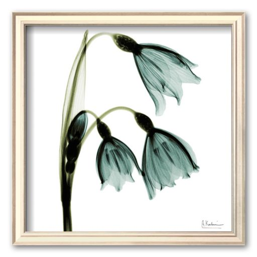 Art.com Three Tulips in Green Framed Art Print by Albert Koetsier