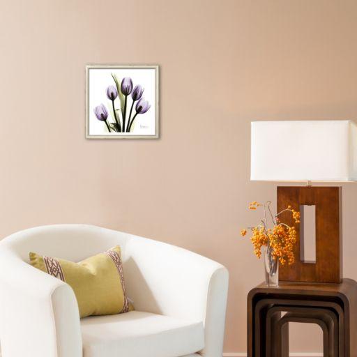 """Art.com """"Tulip in Purple"""" Square Framed Art Print by Albert Koetsier"""