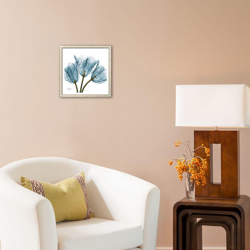 Art.com Tulips in Blue Framed Art Print by Albert Koetsier
