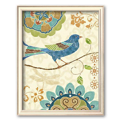 Art.com Eastern Tales Birds I Framed Art Print by Daphne Brissonnet