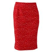 Sharagano Geometric Pencil Skirt
