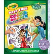 Disney Fairies Color Wonder Glitter Coloring Pad by Crayola