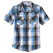 Helix Plaid Woven Button-Down Shirt - Boys 8-20
