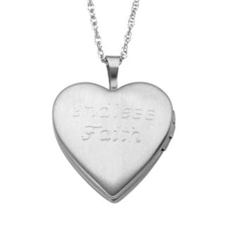 Sweet Sentiments Gold Tone Over Silver and Sterling Silver Diamond Accent Cross Reversible Heart Locket