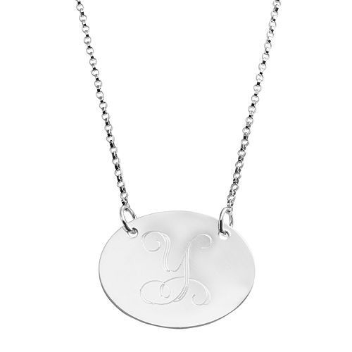 Sweet Sentiments Sterling Silver Initial Necklace