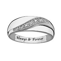 Sweet Sentiments Sterling Silver Diamond Accent Wedding Band - Men