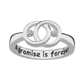Sweet Sentiments Sterling Silver Diamond Accent Openwork Ring