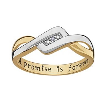 Sweet Sentiments 14k Gold Over Silver & Sterling Silver Diamond Accent Twist Ring