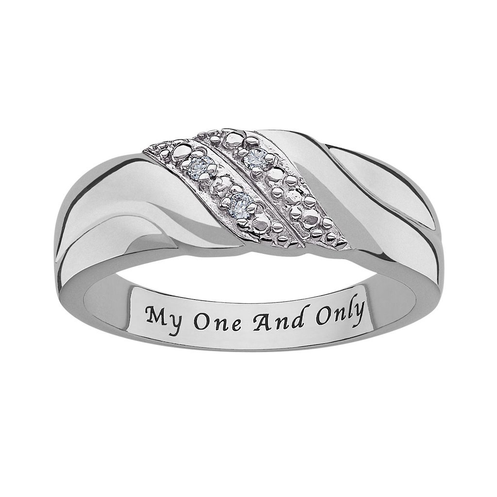 Sweet Sentiments Sterling Silver Diamond Accent Swirl Ring