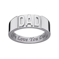Sweet Sentiments Stainless Steel 'Dad' Band - Men