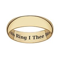 Sweet Sentiments 18k Gold Over Sterling Silver Wedding Band