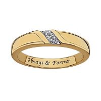 Sweet Sentiments 18k Gold Over Silver & Sterling Silver Diamond Accent Ring