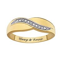 Sweet Sentiments 14k Gold Over Silver & Sterling Silver Diamond Accent Ring