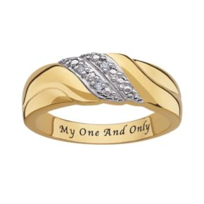 Sweet Sentiments 14k Gold Over Silver and Sterling Silver Diamond Accent Ring