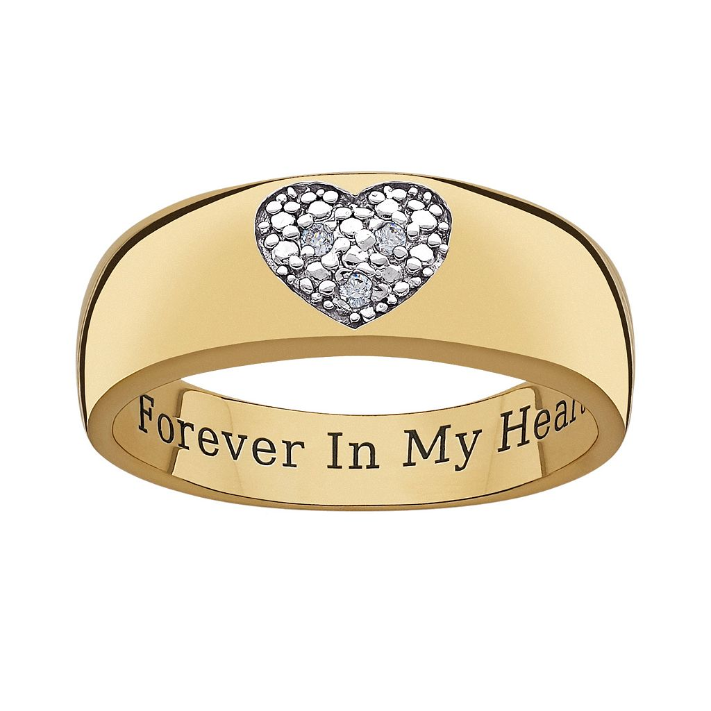 Sweet Sentiments 14k Gold Over Silver & Sterling Silver Diamond Accent Heart Ring