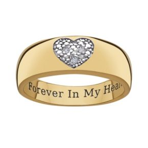 Sweet Sentiments 14k Gold Over Silver and Sterling Silver Diamond Accent Heart Ring