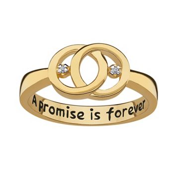 Sweet Sentiments 18k Gold Over Sterling Silver Diamond Accent Openwork Ring