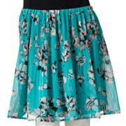 ELLE Floral Pleated Chiffon Skirt