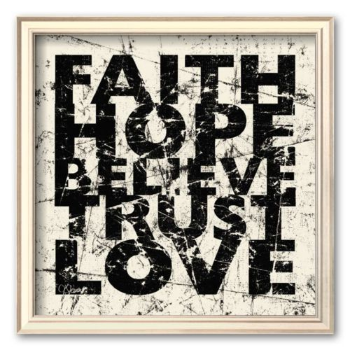Art.com Marble Faith Hope Framed Art Print by Carole Stevens