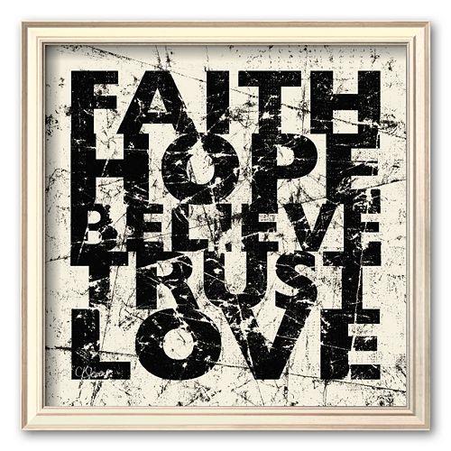 Art.com Marble Faith Hope Framed Art Print by Carole Stevens