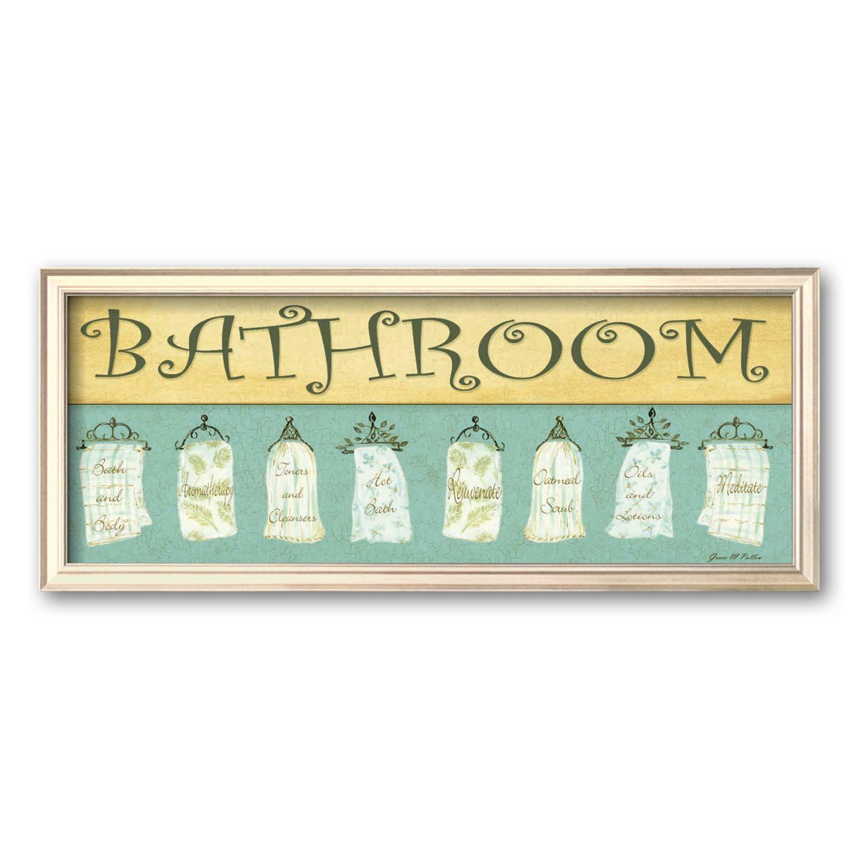 Art.com Bath Towels, Bathroom Framed Art Print By Grace