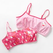 Hello Kitty 2-pk. Crop Bras - Girls