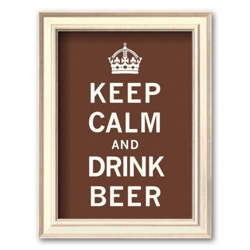 Art.com Keep Calm and Drink Beer Framed Art Print