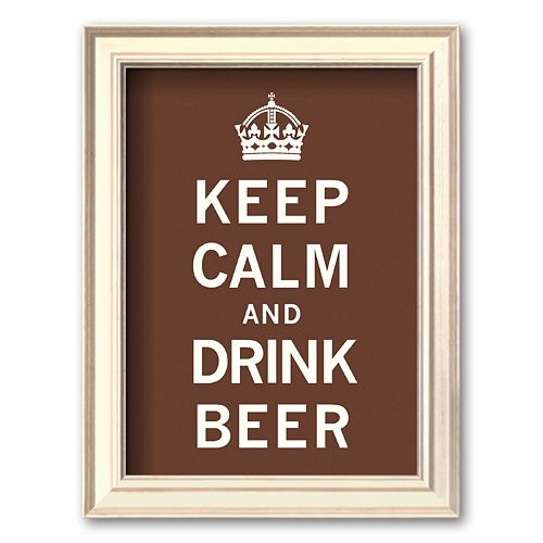 Art.com Keep Calm and Drink Beer Framed Art Print