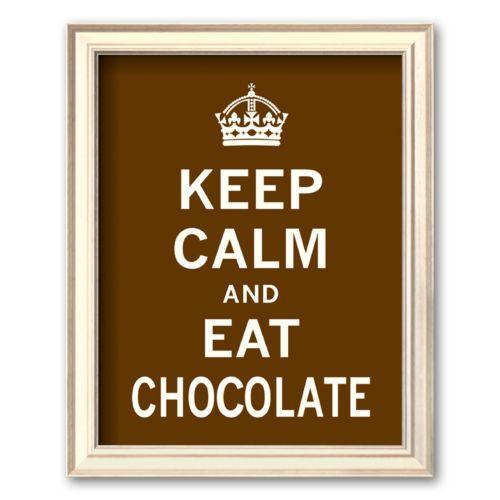 Art.com Keep Calm and Eat Chocolate Framed Art Print