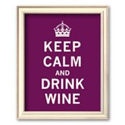 Art.com Keep Calm and Drink Wine Framed Art Print