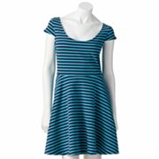 LC Lauren Conrad Striped Fit and Flare Dress