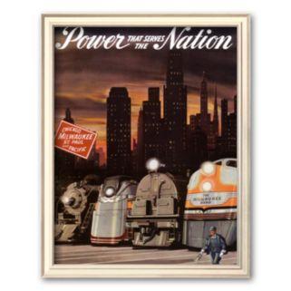 Art.com Power that serves the Nation Framed Art Print by Chase