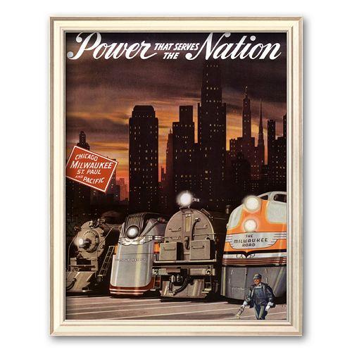 "Art.com ""Power that serves the Nation"" Framed Art Print by Chase"