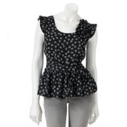 ELLE Dot Peplum Top