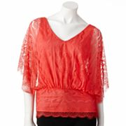 ELLE Lace Batwing Top