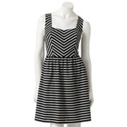 ELLE Striped Ponte Dress