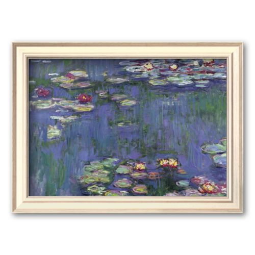 Art.com Water Lilies Framed Art Print by Claude Monet