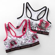Monster High 2-pk. Racerback Crop Bras - Girls