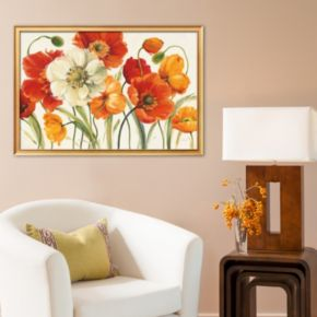 Art.com Poppies Melody I Framed Art Print by Lisa Audit