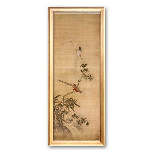 "Art.com ""Birds on a Plum Blossom"" Framed Art Print by Yanagisawa Kien"