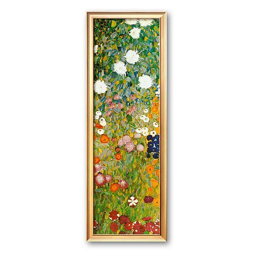 """Art.com """"Flower Garden (detail)"""" Framed Art Print by Gustav Klimt"""