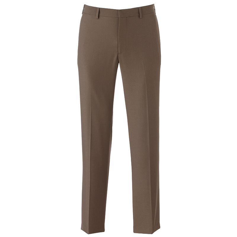 van heusen studio slim fit performance flat front dress pants men