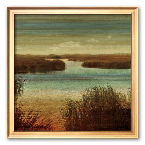 """Art.com """"On The Water I"""" Framed Art Print by John Seba"""