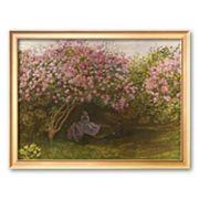 Art.com 'Resting Under the Lilacs' Framed Art Print by Claude Monet