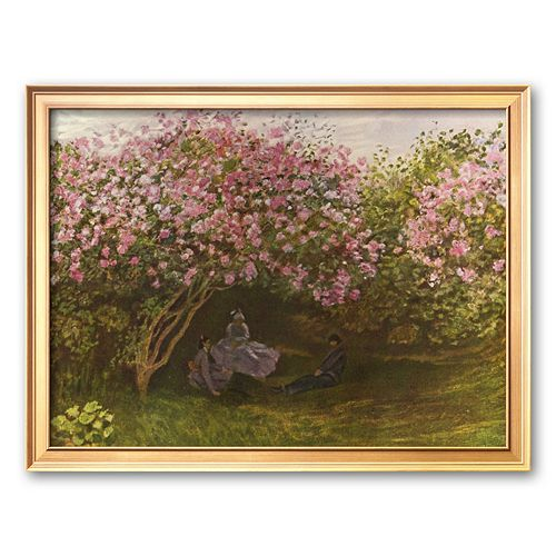 "Art.com ""Resting Under the Lilacs"" Framed Art Print by Claude Monet"