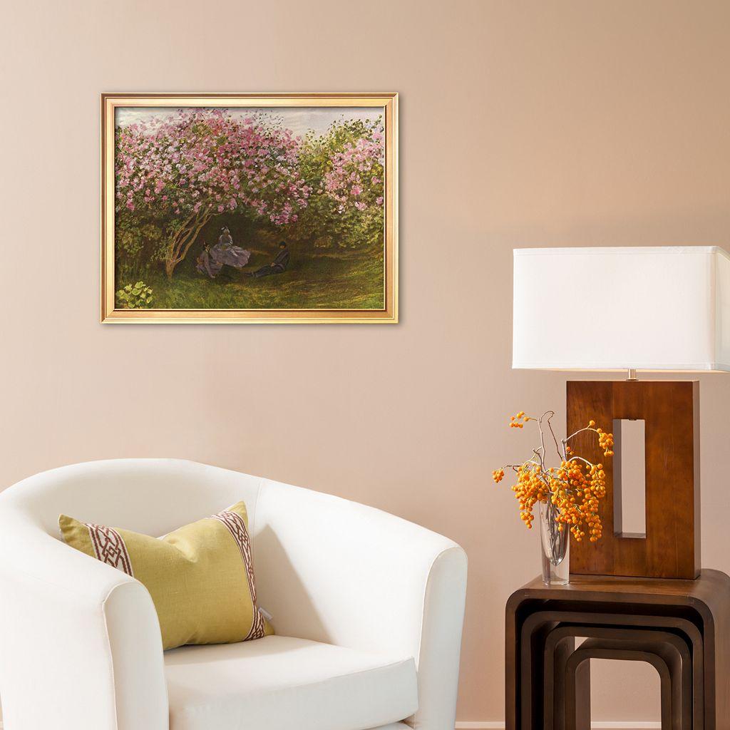 Art.com Resting Under the Lilacs Framed Art Print by Claude Monet