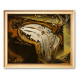 """Art.com """"Soft Watch at the Moment of First Explosion, c.1954"""" Framed Art Print by Salvador Dali"""