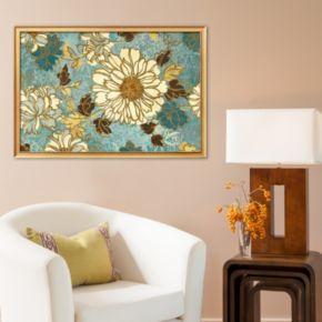 Art.com Sophias Flowers Blue Framed Art Print
