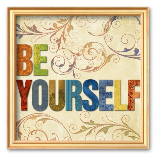 Art.com Be Yourself Framed Art Print By Elizabeth Medley