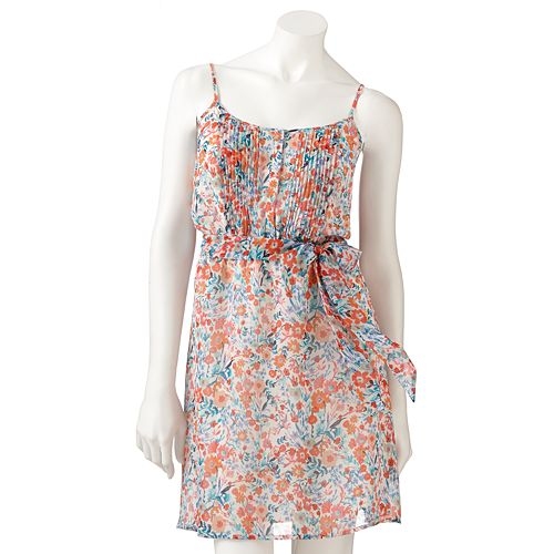 LC Lauren Conrad Floral Chiffon Dress - Women's